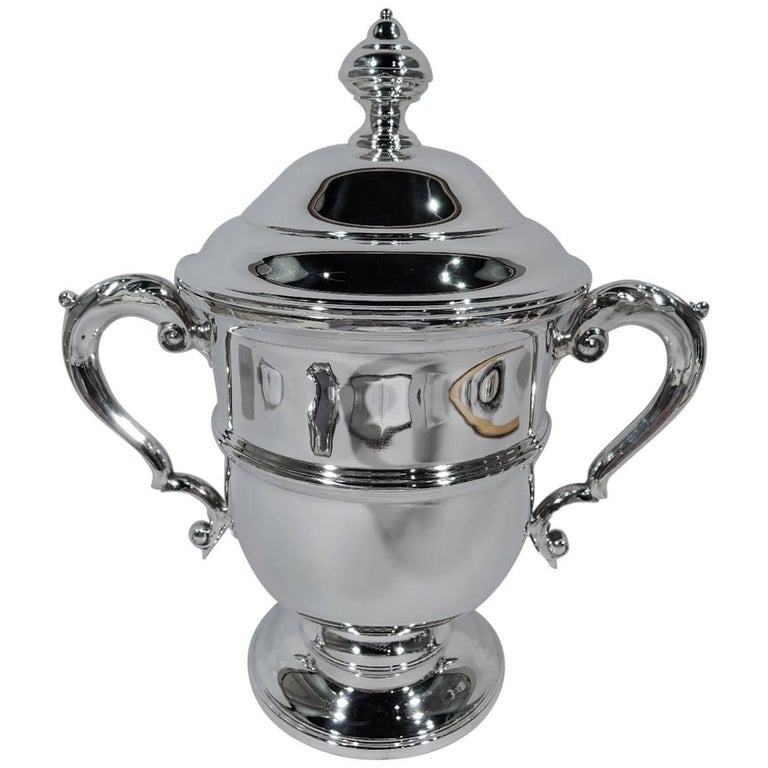 Traditional Large Sterling Silver Covered Trophy Cup by Tiffany & Co