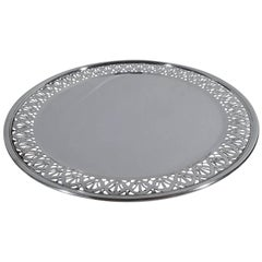 Antique Tiffany Edwardian Sterling Silver Cake Plate