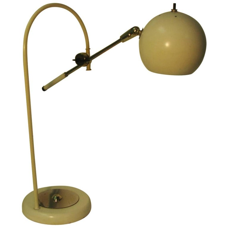 Mid Century Modern Tabletop Arc Desk Lamp For Sale