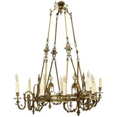 Antique Bronze Twelve-Light Fixture