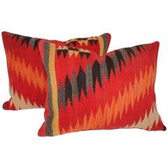 Navajo Indian Weaving Blazing Bolster Pillows