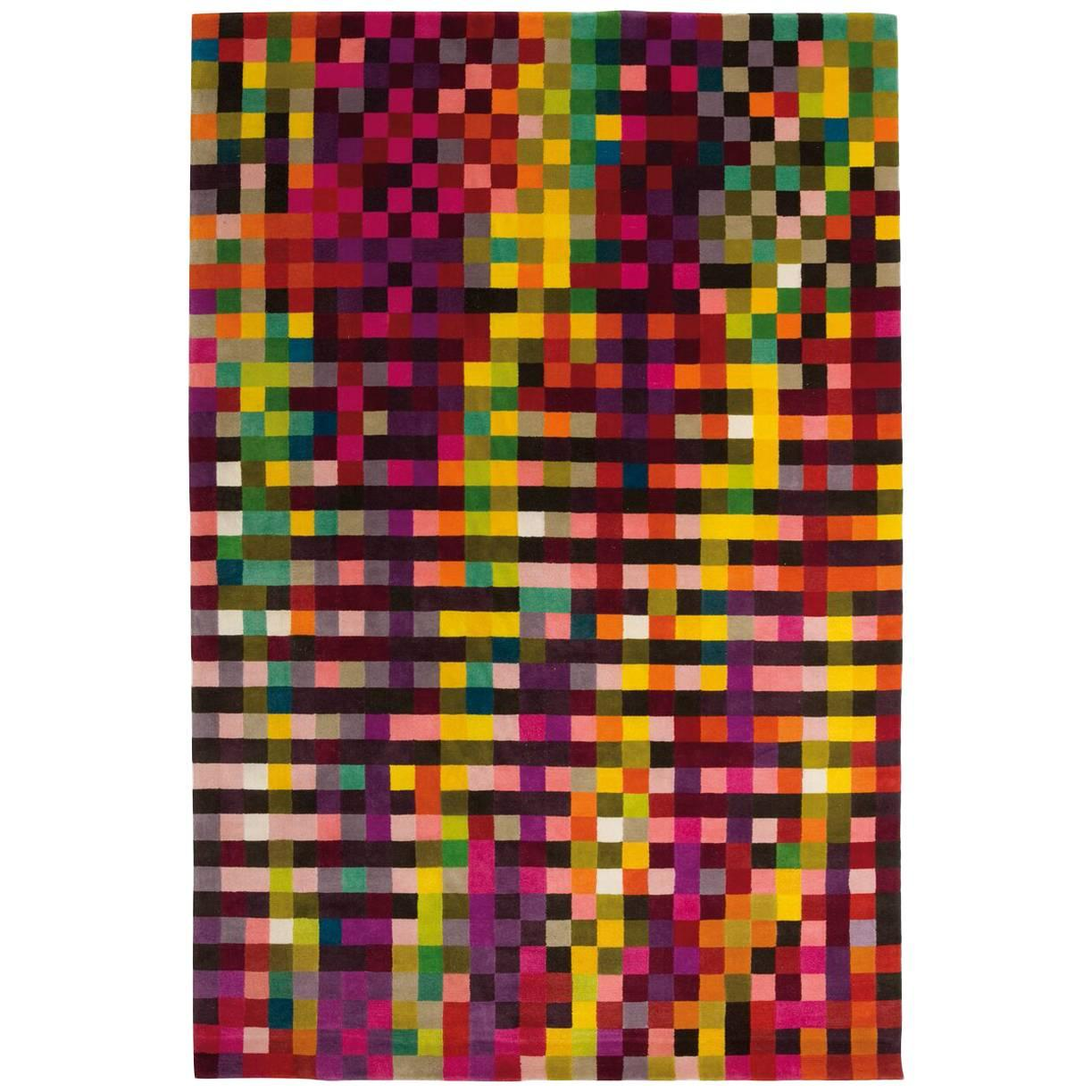Digit 1 Hand-Knotted Wool Area Rug by Cristian Zuzunaga Large