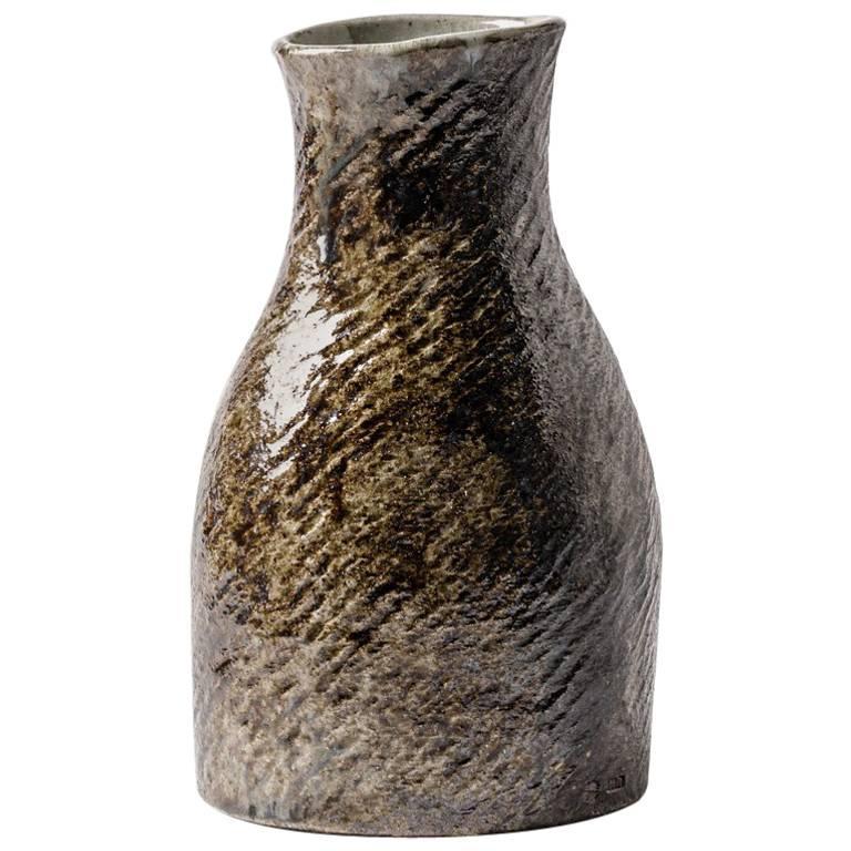 Elegant Stoneware Vase by Martin Hammond, circa 1970
