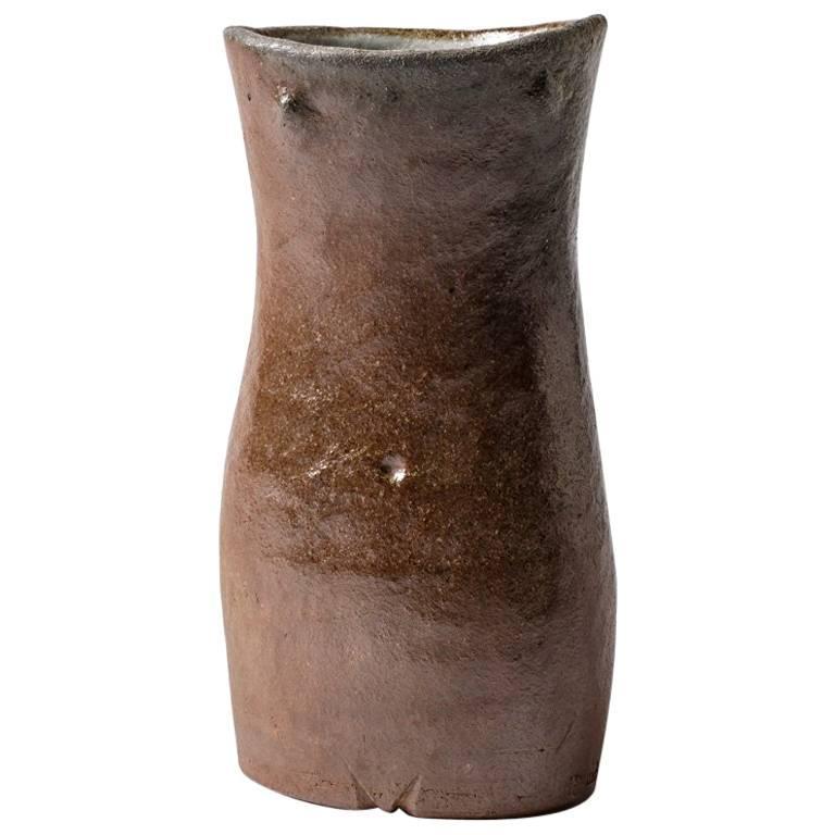 figurative Stoneware Sculpture Vase by Martin Hammond, circa 1960