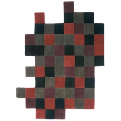 Do-Lo-Rez 2 Red Hand-Tufted New Zealand Wool Area Rug by Ron Arad in Stock