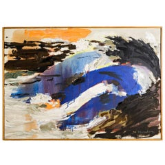 "Abstract Painting by Ingemar Callenberg, circa 1970 ""Branning"""
