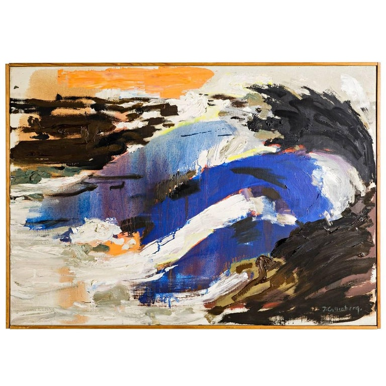 """Abstract Painting by Ingemar Callenberg, circa 1970 """"Branning"""""""