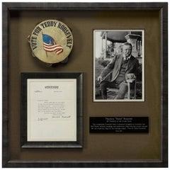 Teddy Roosevelt Multi-Media Collage of Memorabilia