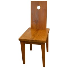 Andrianna Shamaris Circle Teak Wood Chair