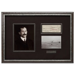 Orville Wright 1922 Signed Check Collage