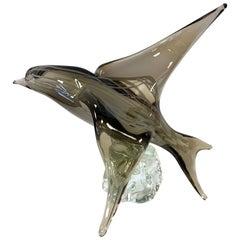 Licio Zanetti Signed Murano Blown Glass Bird Sculpture Art Figure