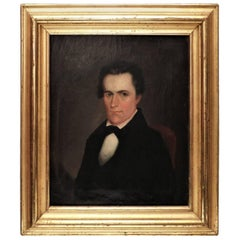 Small Portrait, Oil on Canvas, American, circa 1835