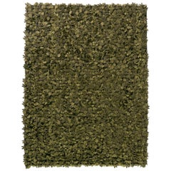 Field of Flowers Hand-Loomed Green Wool Felt Rug by Studio Tord Boontje in Stock