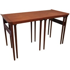 Trio of Danish Modern Walnut Nesting Tables