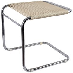 Bauhaus Style, Vintage Chrome Tubular Steel Stool by Knoll Andre Dupre