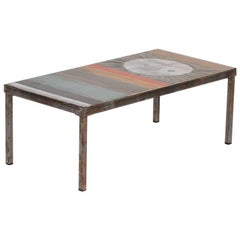 Roger Capron, Coffee Table with Ceramic Top, France, C. 1960