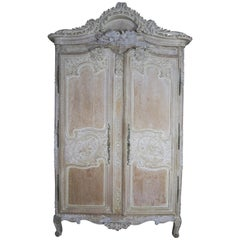 19th Century, French Louis XV Style Armoire