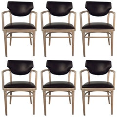 Set of Six Thonet Style Dining Armchairs