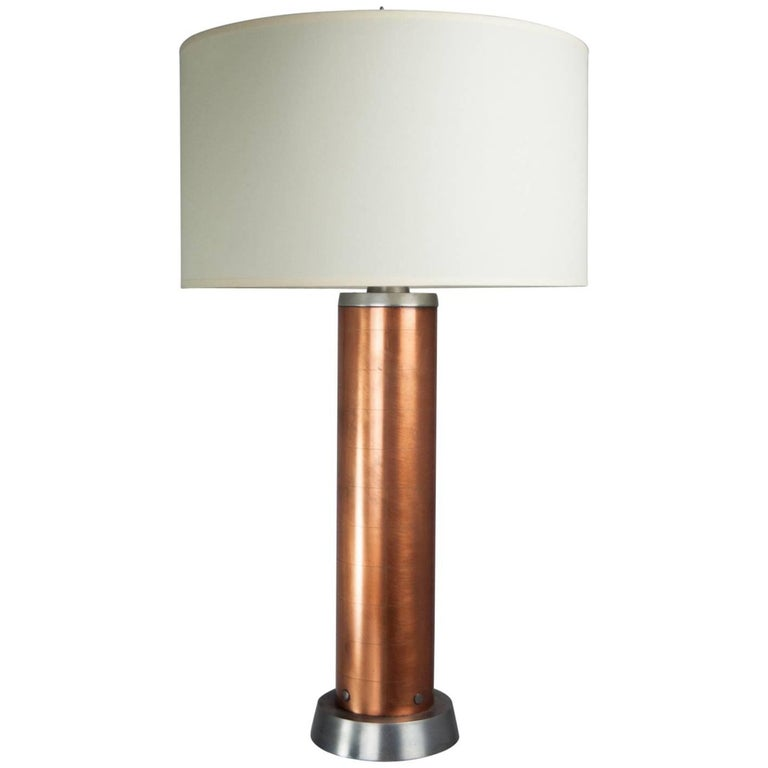 Copper Machine Age Table Lamp