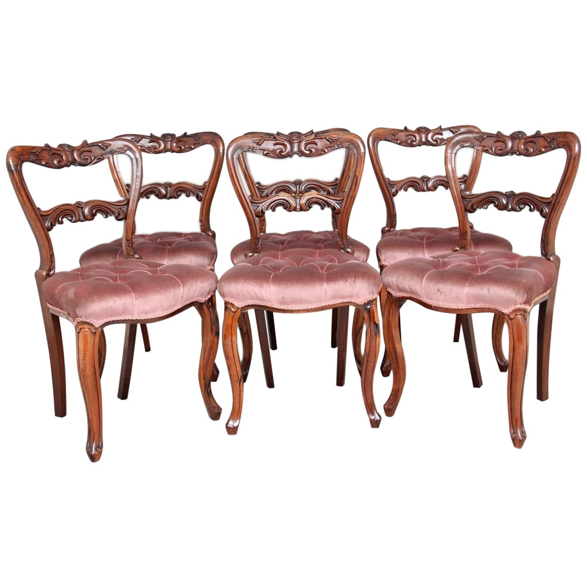 Set of Six 19th Century Rosewood Dining Chairs