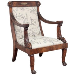 19th Century Regency Mahogany Armchair