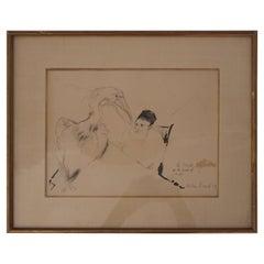 Max Jacob, La Muse Autoritaire de la Maladie De Foie Drawing, 1939, France