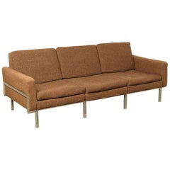 Early Florence Knoll Parallel Bar Style Sofa
