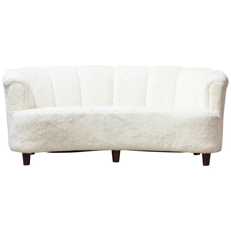 1930s sheepskin sofa otto schulz for boet for sale at 1stdibs. Black Bedroom Furniture Sets. Home Design Ideas