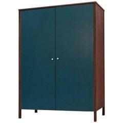 Teak Cupboard Wardrobe Knoll International Florence Knoll, Midcentury