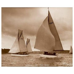 Silver Gelatin Photographic Print by Beken 'Yacht Sunshine and Mary Bower'