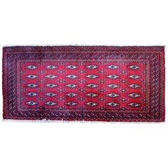 Handmade Vintage Turkmen Tekke Oriental Rug, 1970s
