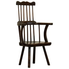 Late 18th Century West Country Comb Back Armchair