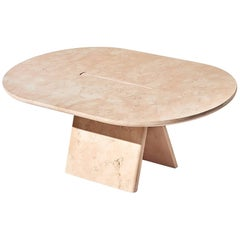 Contemporary Lásta Coffee Table Or Side Table Table Low in Pink Marble