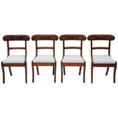 Antique Set of Four Regency circa 1825 Mahogany Dining Chairs