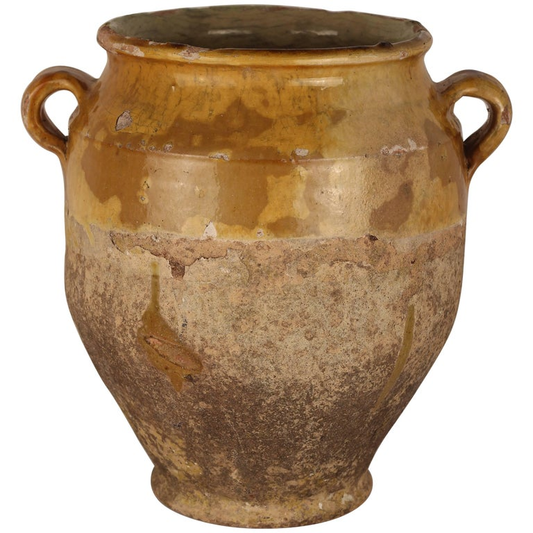Decorative Confit Pot from the South of France, 19th Century For Sale