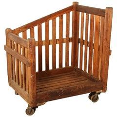Antique Industrial Wooden Cart, 1920