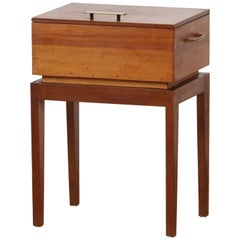 1950s, Teak and Pine Sewing, Side Table