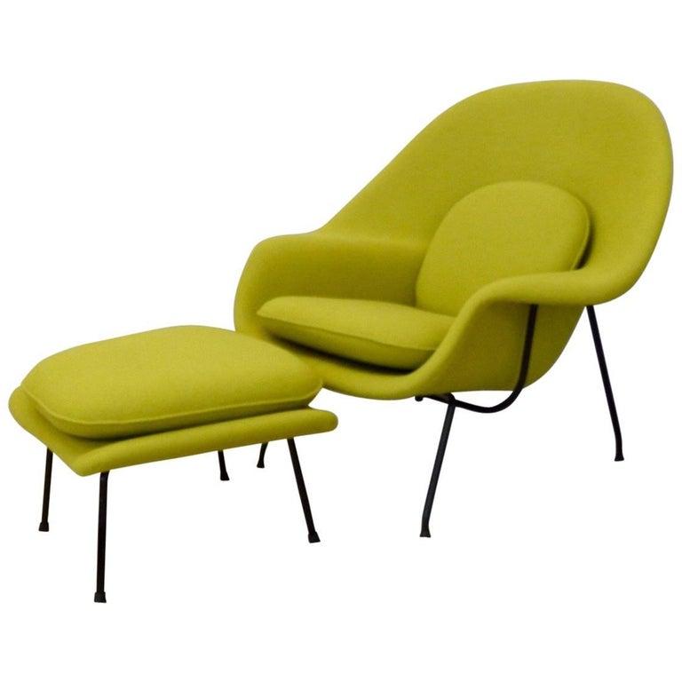 Pleasant Black Leg Eero Saarinen Early 1950S Knoll Womb Chair For Machost Co Dining Chair Design Ideas Machostcouk