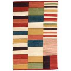 Large Medina 2 Hand-Loomed Afghan Wool Kilim Rug by Nani Marquina in Stock
