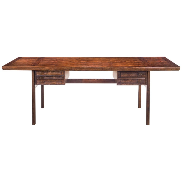 Peter Hvidt and Orla Mølgaard Nielsen by Ludvig Pontoppidan, Large Rosewood Desk
