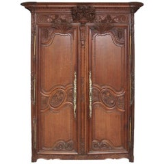 Early 19th Century Oak Marriage Armoire