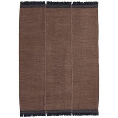 Mia Large Brown Hand-Loomed Wool Dhurrie Rug by Nani Marquina in Stock