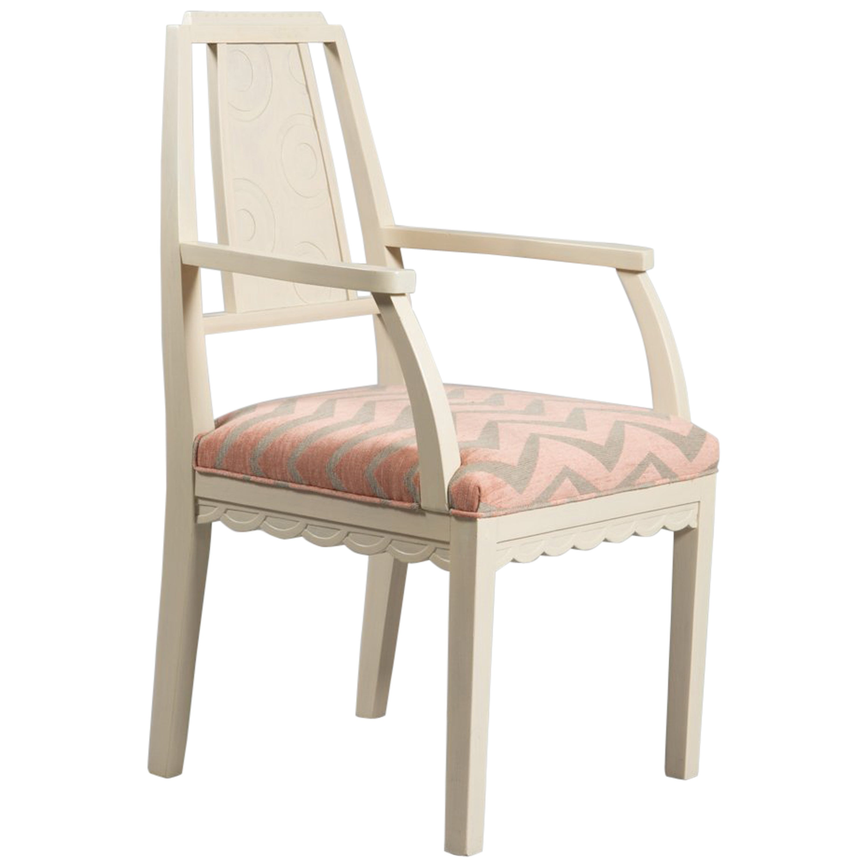 Art Deco Carved Back Armchair