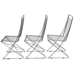 Chromed Steel Wire Vintage Chairs Kreuzschwinger by Till Behrens, 1983, Germany