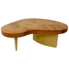 Art Deco Gilbert Rohde Herman Miller Burl Top Coffee Table