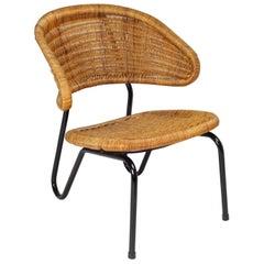 Dirk Van Sliedregt Rattan Easy Chair 568 for Gebr Jonkers, 1954 Netherlands