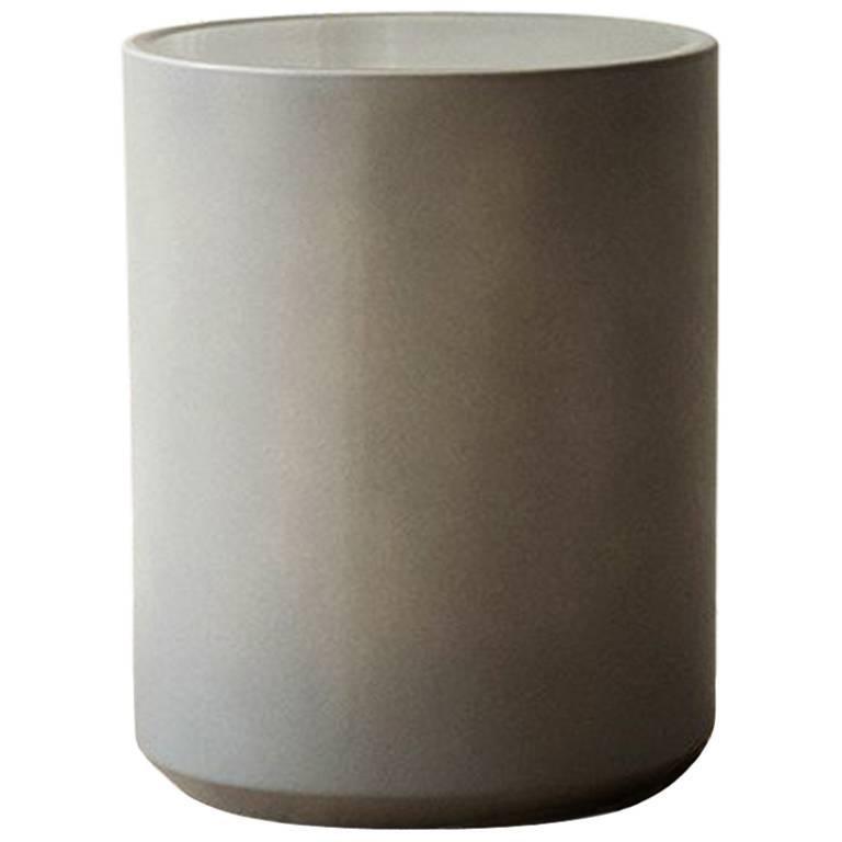 Glazed Ceramic Side Table For Sale