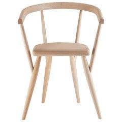 """Lina"" Natural Ash Armchair Designed by Patrizia Bertolini for Adele-C"