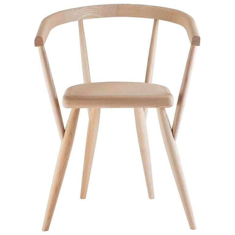 """""""Lina"""" Natural Ash Chair Designed by Patrizia Bertolini for Adele-C For Sale"""
