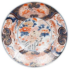 Large Early 18th Century Japanese Blue and White Imari Charger